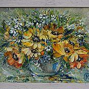 Картины ручной работы. Ярмарка Мастеров - ручная работа Весенние цветочки. Handmade.