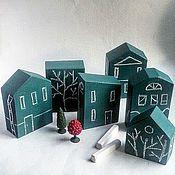 Для дома и интерьера ручной работы. Ярмарка Мастеров - ручная работа Домики грифельные большие, 3шт. Handmade.
