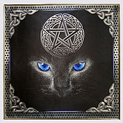 Фен-шуй и эзотерика handmade. Livemaster - original item Altar set blue-EYED CAT, tablecloth and pouch. Handmade.