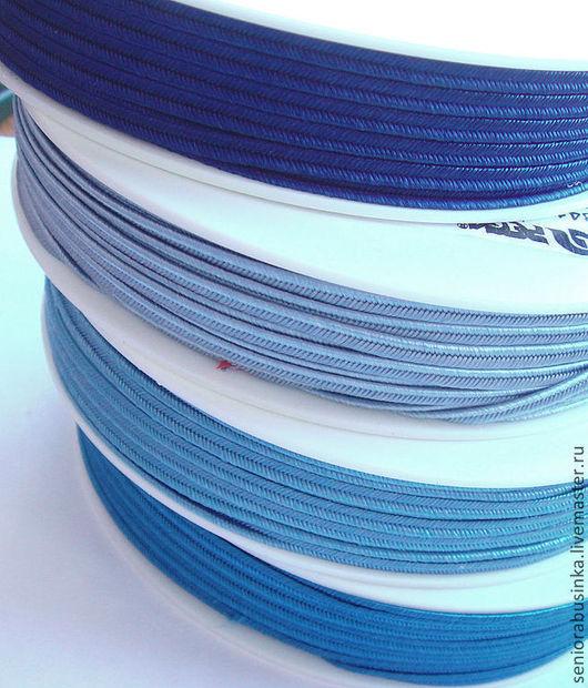 """Шитье ручной работы. Ярмарка Мастеров - ручная работа. Купить Сутаж. """"Голубая пастель"""". Handmade. Синий, сутаж, сутажный шнур"""