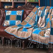 """Подушки ручной работы. Ярмарка Мастеров - ручная работа Чехол ручного ткачества для подушки из комплекта """"Морской"""". Handmade."""