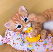 Куклы и игрушки ручной работы. Ярмарка Мастеров - ручная работа котенок Айви. Handmade.