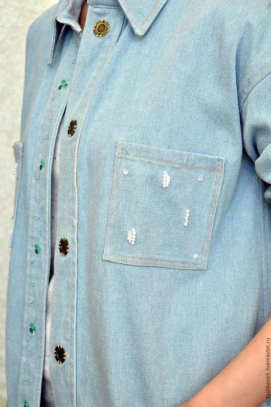 Верхняя одежда ручной работы. Ярмарка Мастеров - ручная работа. Купить Пальто летнее из джинса. Handmade. Пальто, верхняя одежда