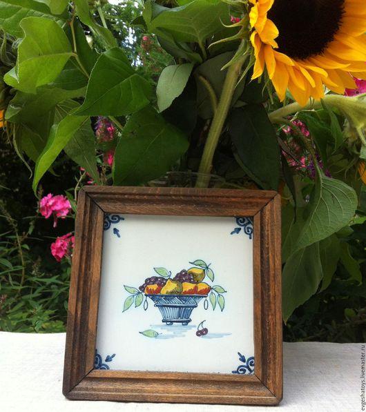 """Винтажная посуда. Ярмарка Мастеров - ручная работа. Купить Настенное украшение для кухни """"Натюрморт"""", Голландия, 70-е гг. Handmade."""