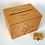Свадебный салон handmade. Livemaster - original item Set No. 4. Wedding chest ring box.. Handmade.