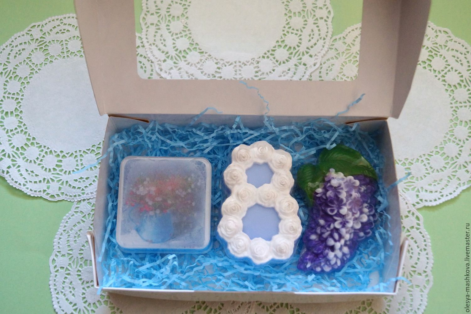 Set soap in box lavender bouquet on March 8, Cosmetics2, Moscow, Фото №1