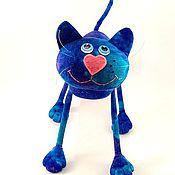 Куклы и игрушки ручной работы. Ярмарка Мастеров - ручная работа Ультрамариновый  кот  )). Handmade.