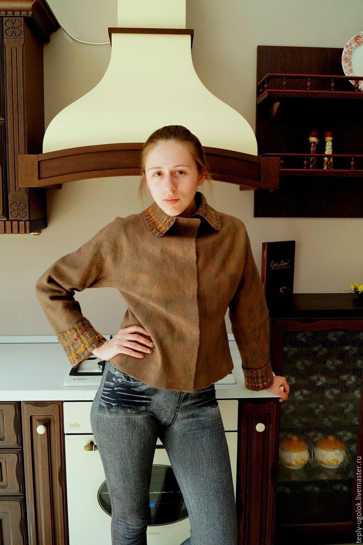 Жакет валяный из шерсти на шелке Шанель, Куртки, Новомосковск,  Фото №1