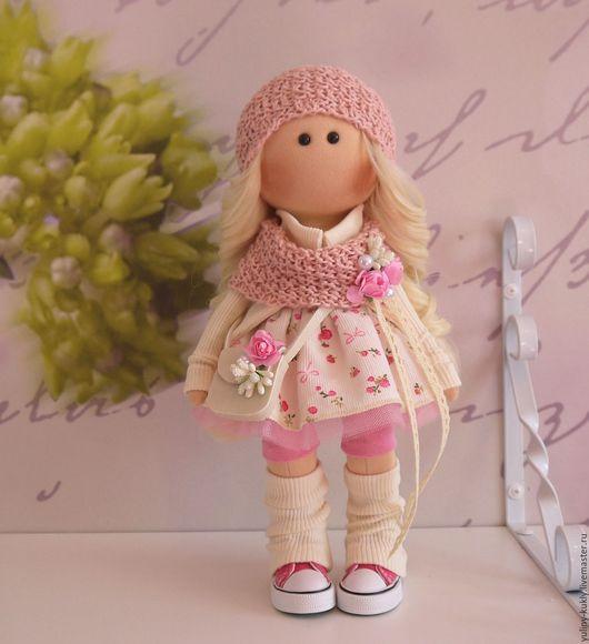 Коллекционные куклы ручной работы. Ярмарка Мастеров - ручная работа. Купить Текстильная куколка-малышка Мелиса. Handmade. Бежевый