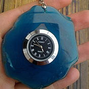 Украшения ручной работы. Ярмарка Мастеров - ручная работа Часы-кулон из агата, часы в камне. Handmade.
