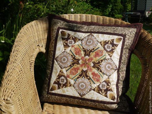 Текстиль, ковры ручной работы. Ярмарка Мастеров - ручная работа. Купить подушка декоративная. Handmade. Лоскутное шитье, подушка декоративная