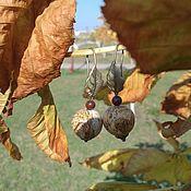 """Украшения ручной работы. Ярмарка Мастеров - ручная работа серьги """"Любимая осень"""". Handmade."""