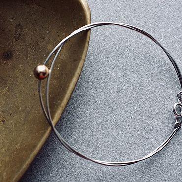Decorations handmade. Livemaster - original item Bracelet from silver and gold ball of Goldfield. Handmade.