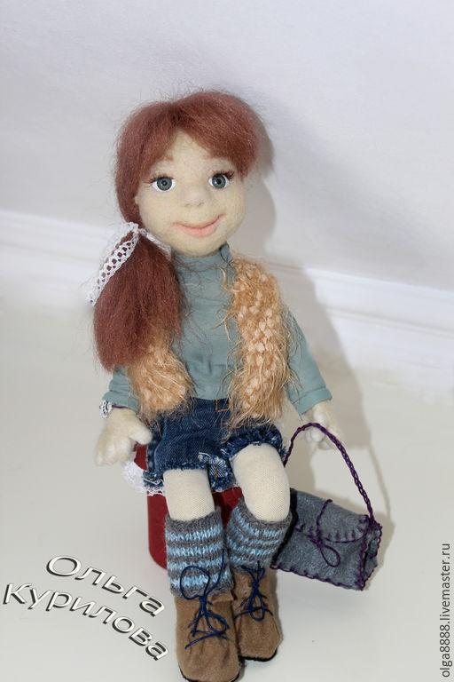 Коллекционные куклы ручной работы. Ярмарка Мастеров - ручная работа. Купить Рыжулька. Handmade. Войлок, фелтинг, рыжая девочка
