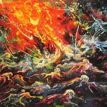 Картины и панно ручной работы. Ярмарка Мастеров - ручная работа Картина Солнечный удар. Handmade.
