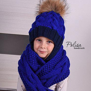 Товары для малышей ручной работы. Ярмарка Мастеров - ручная работа Шапка с утеплителем и шарф. Handmade.