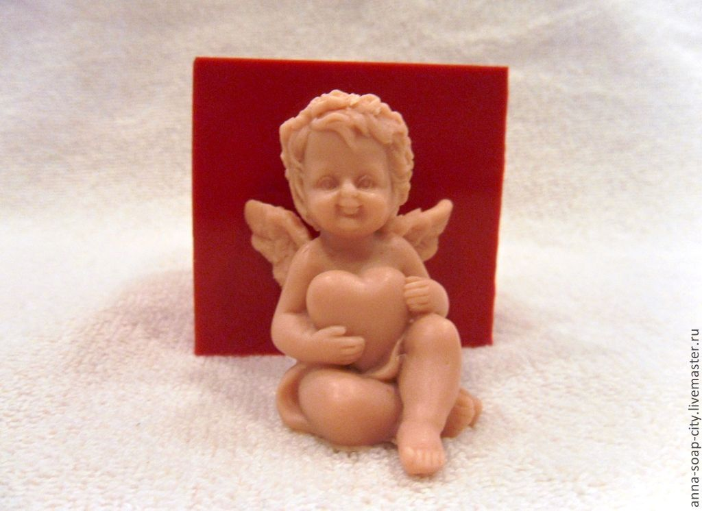 Silicone mold for soap 'angel with heart', Makeup tools, Arkhangelsk,  Фото №1