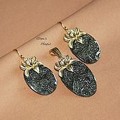 Украшения handmade. Livemaster - original item The pendant and earrings of the Ammonites