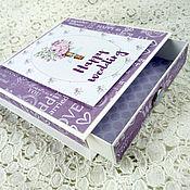 """Открытки ручной работы. Ярмарка Мастеров - ручная работа Коробочка для денежного подарка """"Wedding"""". Handmade."""