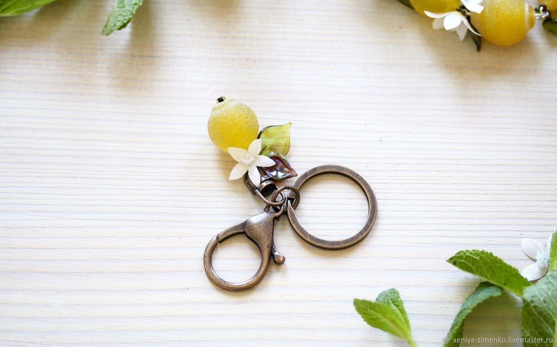 """Украшение на карабине для сумки/ключей """"Цветущий Лимон"""""""