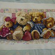 Картины и панно ручной работы. Ярмарка Мастеров - ручная работа Семейство мишек. Handmade.