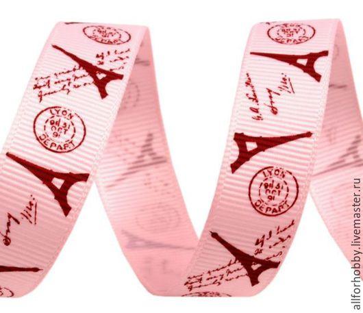 Шитье ручной работы. Ярмарка Мастеров - ручная работа. Купить Лента репсовая ПАРИЖ 16мм розовая и синяя. Handmade. Лента