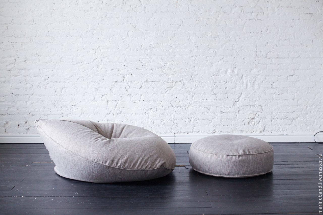 Мебель ручной работы. Ярмарка Мастеров - ручная работа. Купить Кресло Drop. Handmade. Для дома, пуф, чёрно-белый