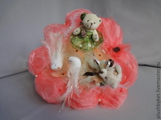 Подарки на свадьбу ручной работы. Ярмарка Мастеров - ручная работа. Купить Букет из игрушек  Свадебный 1. Handmade. Коралловый, перья