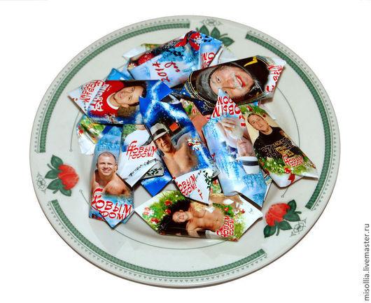 Персональные подарки ручной работы. Ярмарка Мастеров - ручная работа. Купить Обертки на шоколадки, конфеты. Handmade. Фантик, шоколад