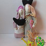 Куклы и игрушки ручной работы. Ярмарка Мастеров - ручная работа Зайцы-неразлучники. Handmade.