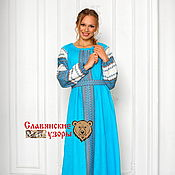 Одежда handmade. Livemaster - original item Dress in Russian style