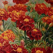 Картины и панно handmade. Livemaster - original item Marigolds. Handmade.