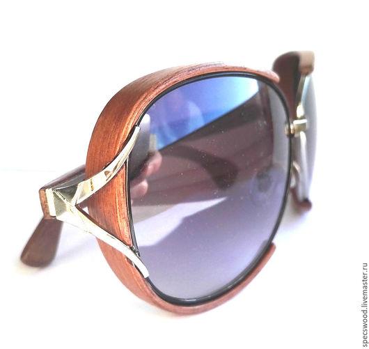 Очки ручной работы. Ярмарка Мастеров - ручная работа. Купить Солнцезащитные очки из дерева № 227. Handmade. Очки из дерева