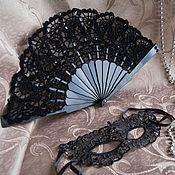 Аксессуары ручной работы. Ярмарка Мастеров - ручная работа Комплект: веер+маска. Handmade.