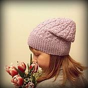 Аксессуары ручной работы. Ярмарка Мастеров - ручная работа Вязаная шапка для девочки. Handmade.