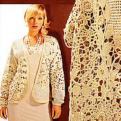 Одежда ручной работы. Ярмарка Мастеров - ручная работа Жакет Ирландское кружево.вязаный крючком Авторская работа. Handmade.