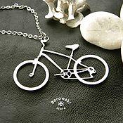 Украшения handmade. Livemaster - original item Pendant Bicycle. Handmade.