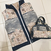 Одежда ручной работы. Ярмарка Мастеров - ручная работа Джинсовая жилетка. Handmade.
