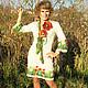 """Платья ручной работы. Ярмарка Мастеров - ручная работа. Купить Платье """"Летний этюд"""". Handmade. Платье, бежевый, вышивка"""