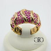 Украшения handmade. Livemaster - original item Gold ring with rubies. 585.. Handmade.
