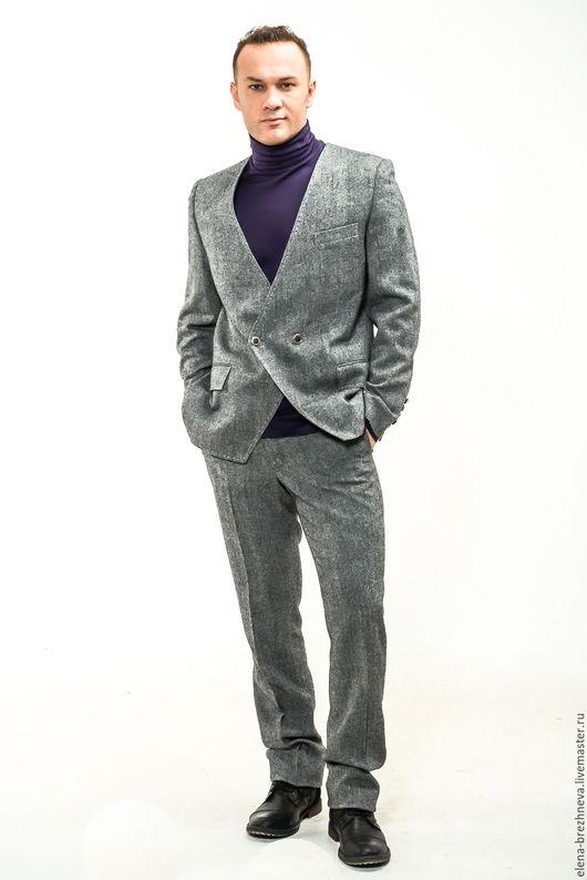 Костюмы ручной работы. Ярмарка Мастеров - ручная работа. Купить Мужской костюм. Handmade. Серый, пиджак, мужские брюки