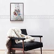 """Картины и панно ручной работы. Ярмарка Мастеров - ручная работа """"Вид с балкона. Франция"""".Интерьерная живопись маслом.. Handmade."""