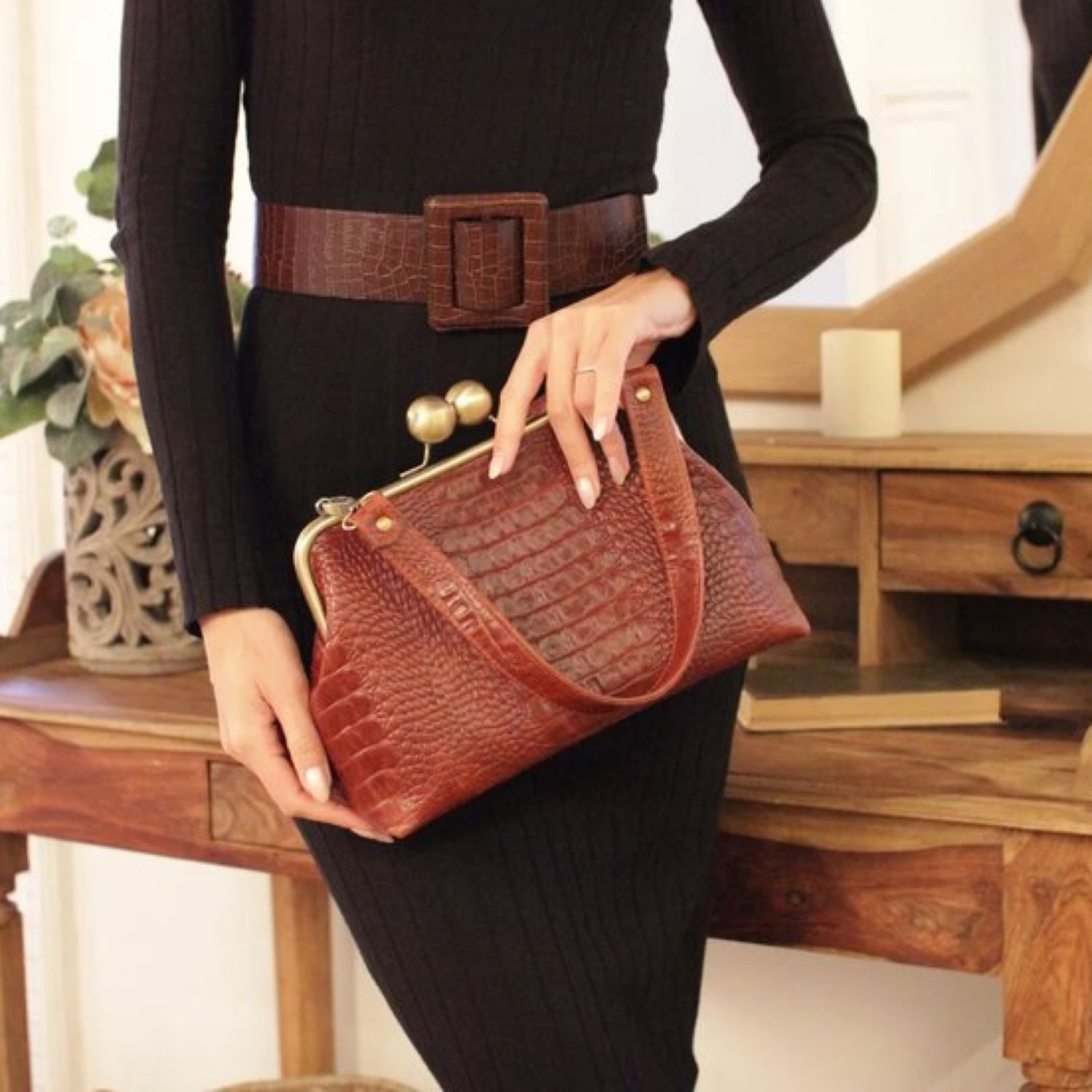 Leather bag with clasp, Clasp Bag, Moscow,  Фото №1