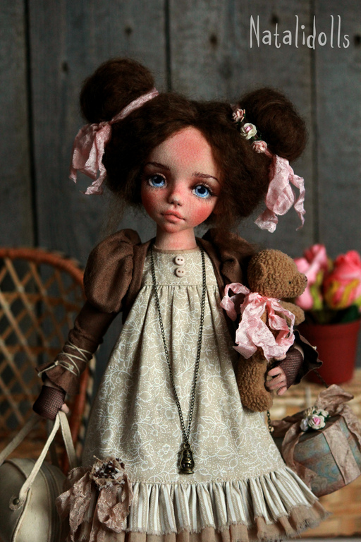 Коллекционные куклы ручной работы. Ярмарка Мастеров - ручная работа. Купить Стефания. Handmade. Бежевый, кукла ручной работы