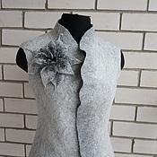 Одежда ручной работы. Ярмарка Мастеров - ручная работа Жилет валяный Серый меланжевый. Handmade.