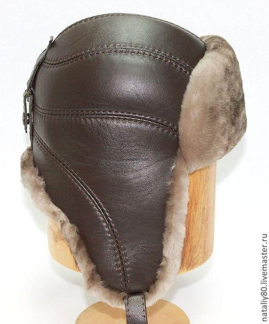 Шапки ручной работы. Ярмарка Мастеров - ручная работа. Купить Мужская шапка ушанка из мутона. Арт.  VS-13. Handmade.