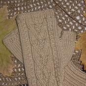 Аксессуары handmade. Livemaster - original item mittens with braids. Handmade.
