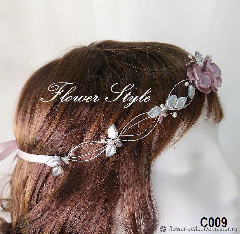 Ободок  для волос с цветами С009, Ободки, Москва,  Фото №1