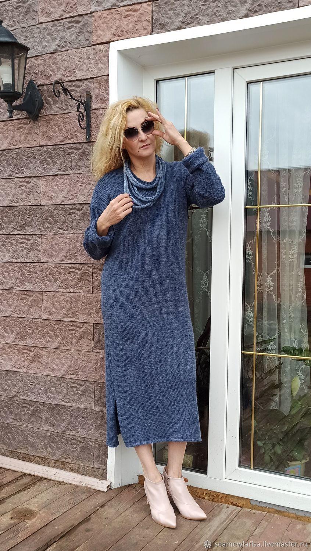 Classic blue ALPACA ROYAL dress, Dresses, Sarapul,  Фото №1