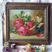 """Картины и панно ручной работы. Ярмарка Мастеров - ручная работа натюрморт """"розы"""". Handmade."""
